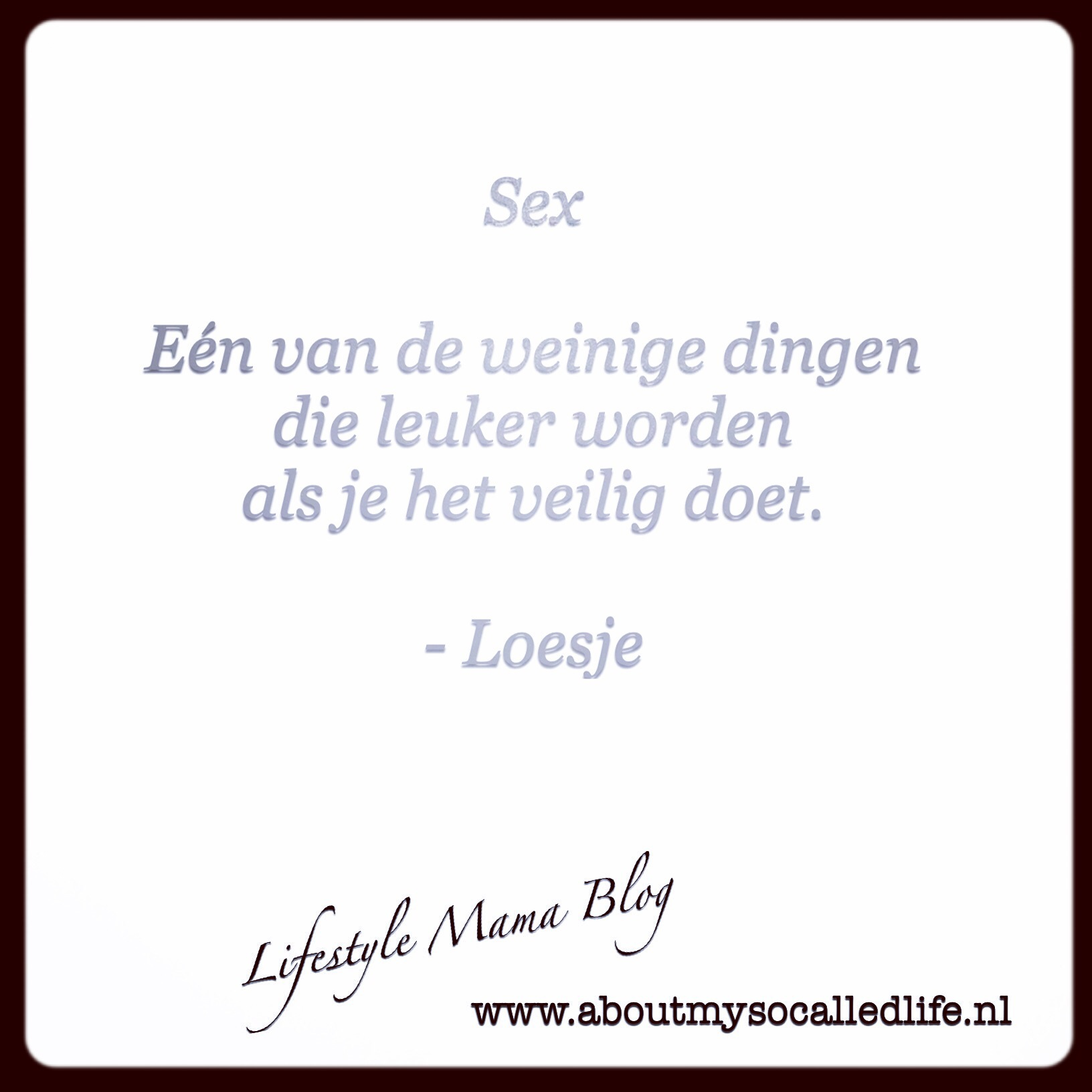 Weetjes Woensdag About my so called life!